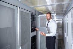 Modernt datacenterserverrum Fotografering för Bildbyråer