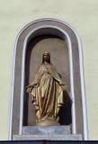 Modernt diagram av St Mary utanför romaren - katolsk kyrka royaltyfria bilder