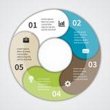 Modernt diagram för information om vektor för affärsprojekt Royaltyfri Bild