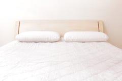 Modernt dubbelt sovrum Arkivbilder