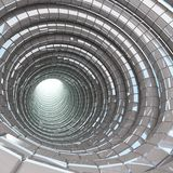 Modernt exponeringsglas för tunnelgrotta Royaltyfri Foto