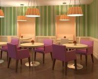 modernt färgglatt hus för kaffe Royaltyfri Illustrationer