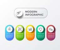 Modernt färgrikt infographic med vektorillustrationen för tabell 3d vektor illustrationer