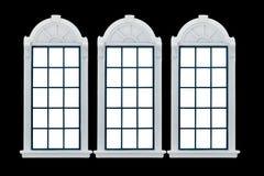 Modernt fönster Med den snabba banan Arkivfoto