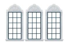 Modernt fönster Med den snabba banan Arkivfoton