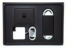 Modernt förpacka för förbruknings- elektronik royaltyfria foton