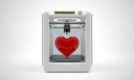 Modernt förundra sig är den nya skrivaren 3D som kan göra plastchärden Royaltyfri Bild