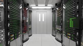 Modernt funktionsdugligt serverrum arkivfilmer