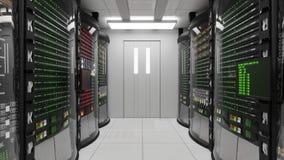 Modernt funktionsdugligt serverrum stock video