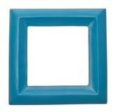 modernt fyrkantigt vibrerande för blå kulör tom ram Royaltyfria Bilder