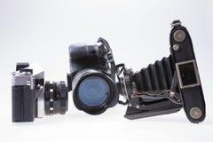 modernt gammalt för kameror Royaltyfria Bilder