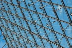 Modernt genomskinligt tak Arkivbild