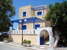 modernt grekiskt hus Fotografering för Bildbyråer