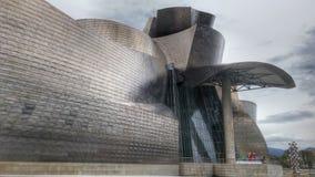Modernt Guggenheim museum och samtida konst arkivfoto