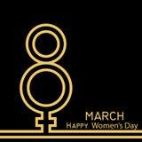 Modernt 8 hälsningkort för mars Lycklig dag för kvinna` s vektor Royaltyfria Bilder