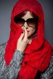 Modernt Hijab mode arkivbilder