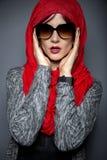 Modernt Hijab mode fotografering för bildbyråer