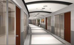 modernt hotell för hall 3d stock illustrationer