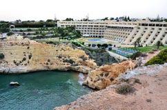 Modernt hotell i Algarve Arkivfoto