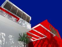 modernt hus stock illustrationer