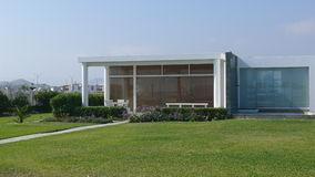 Modernt hus i det Asien området på söderna av Lima Arkivbilder