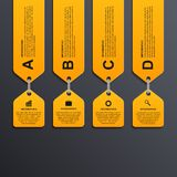 Modernt infographic alternativbaner bakgrundsdesignelement fyra vita snowflakes Fotografering för Bildbyråer