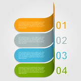 Modernt infographic. Designbeståndsdelar Royaltyfri Fotografi