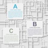 Modernt infographic. Designbeståndsdelar Royaltyfria Foton