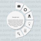 Modernt infographic. Designbeståndsdelar. Arkivbild