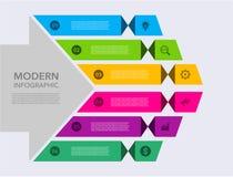 Modernt infographic f?r aff?r Mall f?r design f?r vektorinfographicstimeline momentupps?ttning ocks? vektor f?r coreldrawillustra stock illustrationer