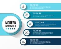 Modernt infographic med vektorillustrationen för tabell 3d stock illustrationer