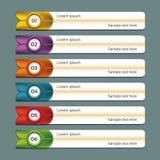 Modernt infographicsalternativbaner. Arkivfoton