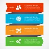 Modernt infographicsalternativbaner Arkivfoto