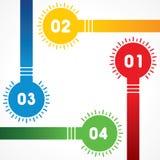 Modernt infographicsalternativbaner med kulor Royaltyfri Fotografi