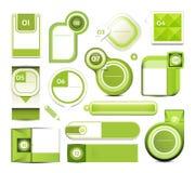 Modernt infographicsalternativbaner. Vektorillustration. användas för workfloworientering, kan diagram nummeralternativ, rengöring Fotografering för Bildbyråer