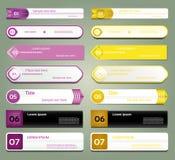 Modernt infographicsalternativbaner. Vektorillustration. användas för workfloworientering, kan diagram nummeralternativ, rengöring Arkivfoton