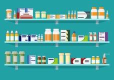 Modernt inre apotek eller apotek Arkivfoton