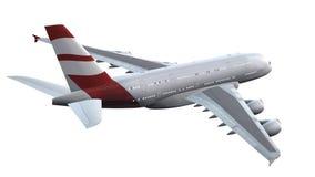 Modernt isolerat passagerareflygplan Arkivbild