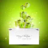 Modernt julhälsningkort Royaltyfri Foto