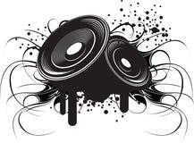 Modernt klubbamusik och ljud för abstrakt illustration Royaltyfri Fotografi