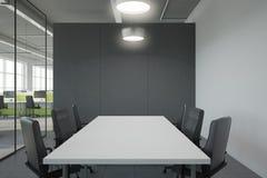 Modernt konferensrum med copyspace Royaltyfri Foto
