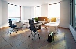 modernt kontor stock illustrationer