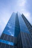 modernt kontor för blå byggnad Royaltyfria Bilder