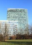 modernt kontor för byggnader Arkivbilder