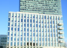 modernt kontor för byggnader Arkivbild