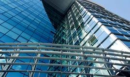 modernt kontor för byggnadsfacade Royaltyfri Fotografi
