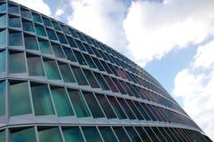 modernt kontor för byggnadsfacade royaltyfria bilder