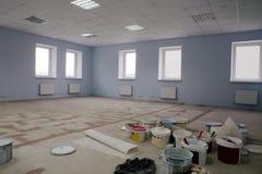 modernt kontor för konstruktion Arkivfoto