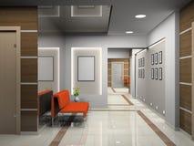 modernt kontor för korridor royaltyfri illustrationer