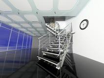 modernt kontor för korridor stock illustrationer
